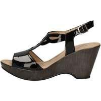 Schuhe Damen Sandalen / Sandaletten Donna Soft 7350 Sandale Frau Schwarz Schwarz