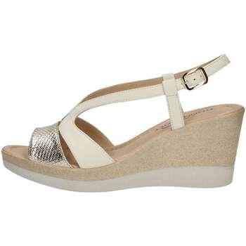 Schuhe Damen Sandalen / Sandaletten Donna Soft 6950 Sandale Frau Elfenbein Elfenbein