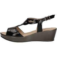 Schuhe Damen Sandalen / Sandaletten Donna Soft 7451 Sandale Frau Schwarz Schwarz