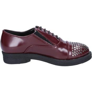 Schuhe Damen Derby-Schuhe Francescomilano elegante burgund leder nieten BX326 rot