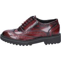 Schuhe Damen Derby-Schuhe Francescomilano elegante burgund leder BX331 rot