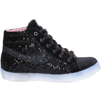 Fiori Di Picche Turnschuhe sneakers schwarz velluto paillettes BX345