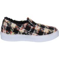 Schuhe Damen Slip on 2 Stars slip on schwarz textil weiß BX377 schwarz