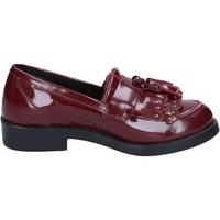 Schuhe Damen Slipper Emanuélle Vee schuhe damen  mokassins burgund leder BX382 rot