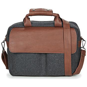 Taschen Herren Laptop-Tasche André LINO Grau / Braun