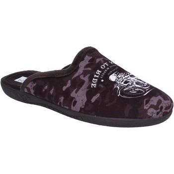 Schuhe Herren Hausschuhe Pregunta pantoffeln sandalen braun textil BX441 braun