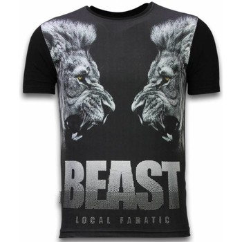 Kleidung Herren T-Shirts Local Fanatic Beast Digital Strass Schwarz