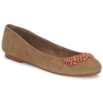 Schuhe Damen Ballerinas Ambre Babzoe DUFFY Camel