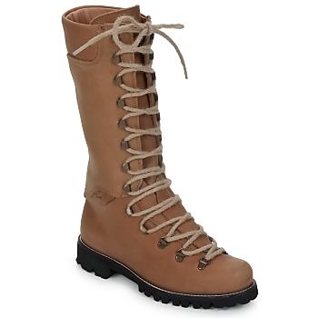 Schuhe Damen Boots Swamp STIVALE LACCI Braun