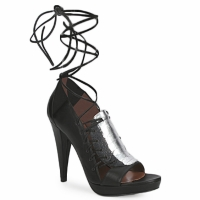 Schuhe Damen Sandalen / Sandaletten Sigerson Morrison STRUZZO Schwarz / Silbern