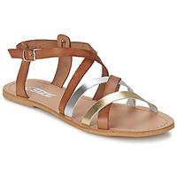 Schuhe Damen Sandalen / Sandaletten So Size AVELA Noisette