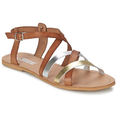 So Size AVELA Noisette  Schuhe Sandalen / Sandaletten Damen 47,99