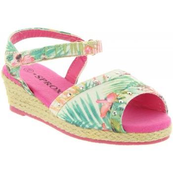 Schuhe Mädchen Leinen-Pantoletten mit gefloch Sprox 273173-B4600 Rosa
