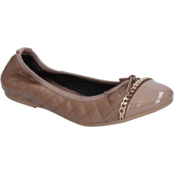 Schuhe Damen Ballerinas Crown ballerinas beige leder BX639 beige