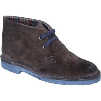 Schuhe Damen Ankle Boots Kep's By Coraf KEP'S stiefeletten braun (dunkelbraun) wildleder BX659 braun