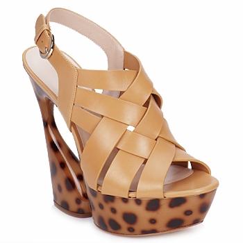 Schuhe Damen Sandalen / Sandaletten Casadei MAGGY Sweet / Natur