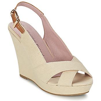 Schuhe Damen Sandalen / Sandaletten Moony Mood AKOLM Beige