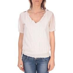 Kleidung Damen Tops / Blusen Vision De Reve Tunique Kate 7041 Blanche Weiss