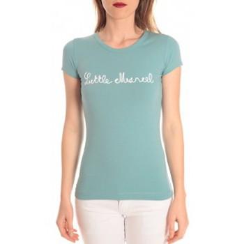 Kleidung Damen T-Shirts Little Marcel t-shirt tokyo corde turquoise Blau