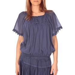 Kleidung Damen Tops / Blusen Vision De Reve vision de rêve t-shirt 9007 bleu Blau