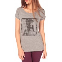 Kleidung Damen T-Shirts Tom Tailor T-shirt With Print Gris Grau