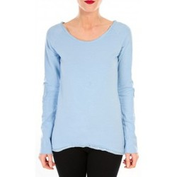 Kleidung Damen Langarmshirts By La Vitrine T-shirt Empiècement Pailleté 2119 Bleu Blau