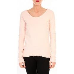 Kleidung Damen Langarmshirts By La Vitrine T-shirt Empiècement Pailleté 2119 Rose Poudre Rose