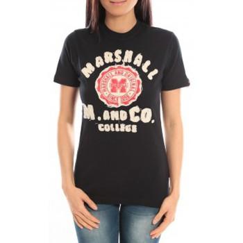 Kleidung Damen T-Shirts Sweet Company T-shirt Marshall Original M and Co 2346 Noir Schwarz