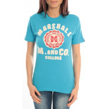 Kleidung Damen T-Shirts Sweet Company T-shirt Marshall Original M and Co 2346 Bleu Blau