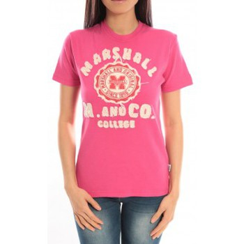 Kleidung Damen T-Shirts Sweet Company T-shirt Marshall Original M and Co 2346 Fushia Rose