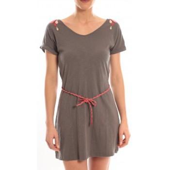 Kleidung Damen Kurze Kleider Blune Robe Larme de Joie LJ-RF01E13 Grise Grau