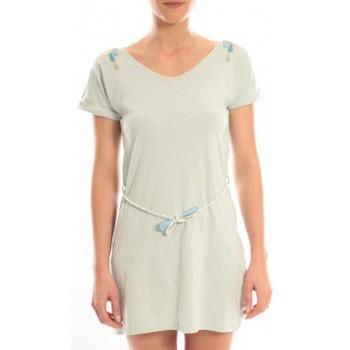 Kleidung Damen Kurze Kleider Blune Robe Larme de Joie LJ-RF01E13 Verte Grün