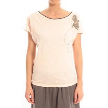 Kleidung Damen T-Shirts Blune T-Shirt Libre Comme l'Air LCL-TF02E13 Rose Rose