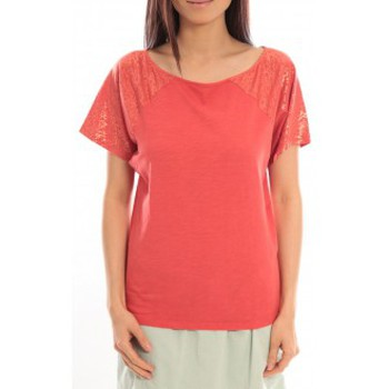 Kleidung Damen T-Shirts Blune T-Shirt Pointilleuse PO-TF02E13 Rouge Rot
