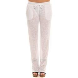 Kleidung Damen Jogginghosen By La Vitrine Pantalon  BLV01Blanc Weiss