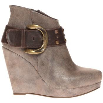 Schuhe Damen Ankle Boots Cassis Côte d'Azur Bottines Anaee Belt Bronze Braun