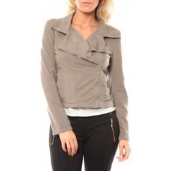 Kleidung Damen Jacken Sweet Company Veste Zip Atomika B Taupe Braun