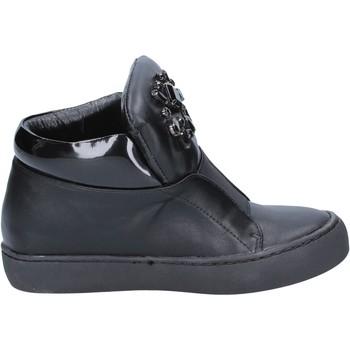 Schuhe Damen Low Boots Sara Lopez sneakers schwarz leder BX704 schwarz