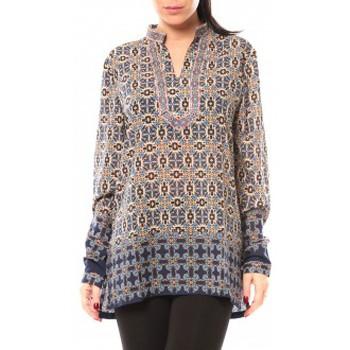 Kleidung Damen Hemden Dress Code Chemisier SHK F323 Bleu Blau