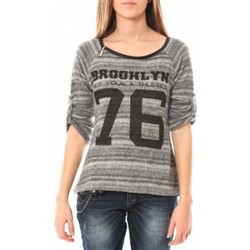 Kleidung Damen Pullover De Fil En Aiguille Pull Brooklyn 76 Grau