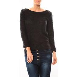 Kleidung Damen Pullover De Fil En Aiguille Pull 1422 Noir Schwarz