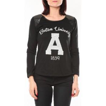 Kleidung Damen Pullover De Fil En Aiguille Pull E1325 Noir Schwarz