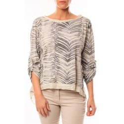 Kleidung Damen Langarmshirts By La Vitrine Tee shirt Zèbre Asso Gold Beige - Beige