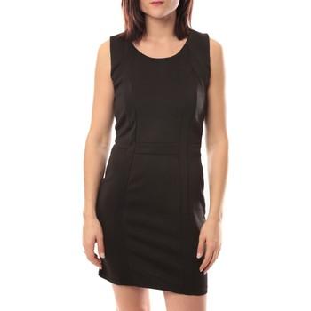 Kleidung Damen Kurze Kleider Dress Code Robe Wind V002 Noir Schwarz