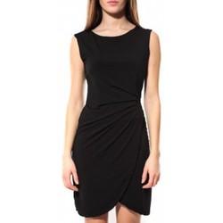 Kleidung Damen Kurze Kleider Dress Code Robe ANM Noir Schwarz