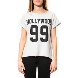 Kleidung Damen T-Shirts By La Vitrine Tee Shirt Hollywood 99 Blanc Weiss