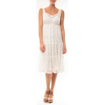 Kleidung Damen Kurze Kleider Dress Code Robe LF11252 Blanc Weiss