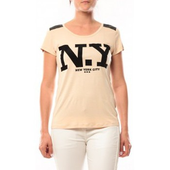 Kleidung Damen T-Shirts Dress Code T-Shirt Love Look NY 1660 Beige Beige