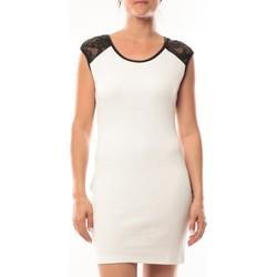 Kleidung Damen Kurze Kleider Dress Code Robe Love Look 320 Blanc Weiss