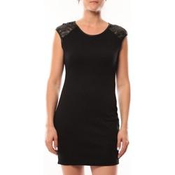 Kleidung Damen Kurze Kleider Dress Code Robe Love Look 320 Noir Schwarz